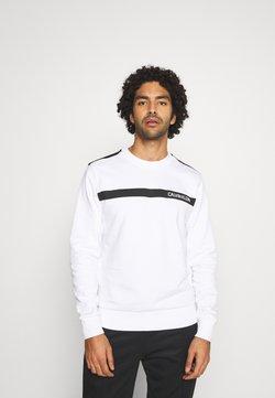 Calvin Klein Tailored - BOLD STRIPE LOGO  - Collegepaita - white