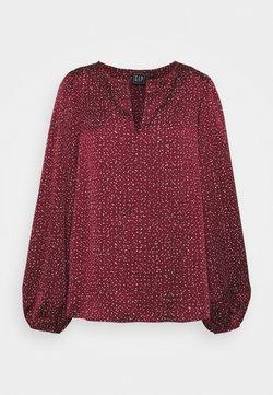 Gap Tall - SPLIT BLOUSON  - Bluse - burgundy print