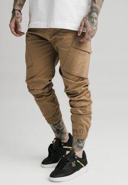 SIKSILK - ELASTIC CUFF PANT - Cargo trousers - beige