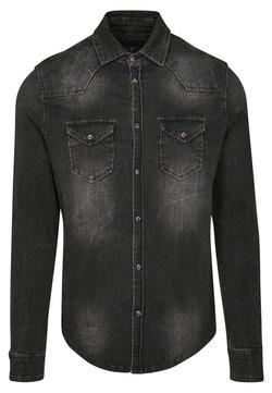 Brandit - HERREN RILEY DENIMSHIRT - Overhemd - black
