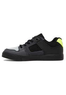 DC Shoes - PURE ELASTIC - Sneakers laag - black/grey/yellow