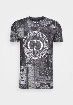 Criminal Damage - BANDANA TEE - Camiseta estampada - black