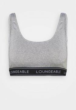 Loungeable - LOGO ELASTIC LOW BACK CROP TOP - Alustoppi - grey