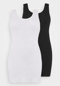 Even&Odd Curvy - 2 PACK - Freizeitkleid - black/grey