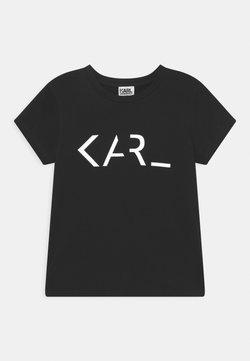 KARL LAGERFELD - SHORT SLEEVES TEE UNISEX - T-shirt med print - black