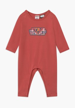 Cotton On - LONG SLEEVE SNAP ROMPER - Pyjama - red brick