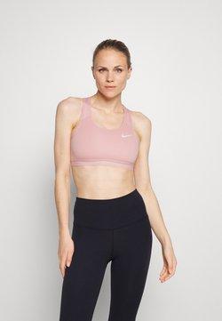 Nike Performance - BAND BRA NON PAD - Sport-BH mit mittlerer Stützkraft - pink glaze/htr/pink glaze/(white)