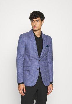1904 - JASPE OVER CHECK JACKET SLIM - Suit jacket - mid blue