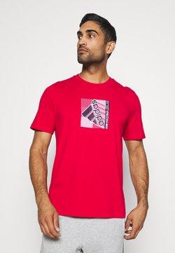 adidas Performance - Printtipaita - scarlet