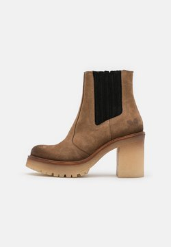Felmini - COMBI - Platform ankle boots - marvin stone/black