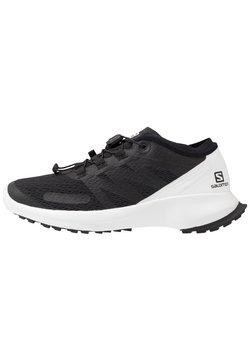 Salomon - SENSE FLOW  - Zapatillas de trail running - black/white