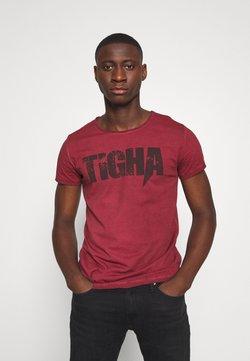 Tigha - TIGHA LOGO SPLASHES - T-shirt imprimé - vintage bordeaux