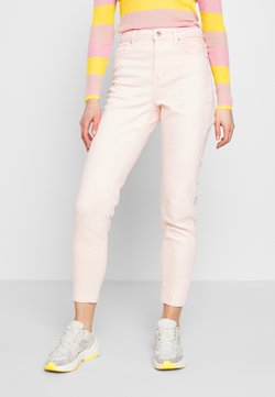 Pieces - PCLEAH MOM HW ANK COLOUR ACID JEANS - Straight leg -farkut - sea pink