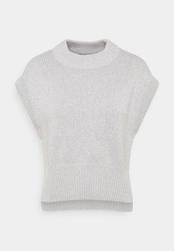 Gina Tricot Petite - MEG VEST - Camiseta básica - grey melange