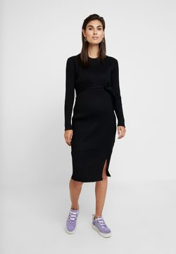 New Look Maternity - TIE WAIST DRESS - Neulemekko - black