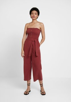 Abercrombie & Fitch - STAPLESS SMOCKED - Combinaison - earth red