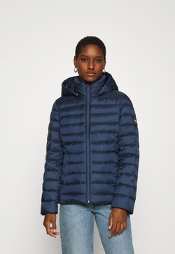 Calvin Klein - COATED ZIP LIGHT JACKET - Daunenjacke - navy