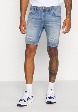 River Island - Jeansshort - light blue