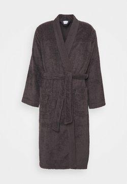 Möve - KIMONO MIT STEPPERBESATZ - Dressing gown - graphite