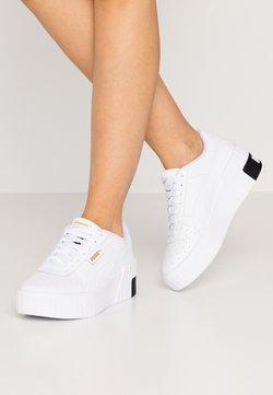 Puma - CALI WEDGE  - Sneakers - white/black