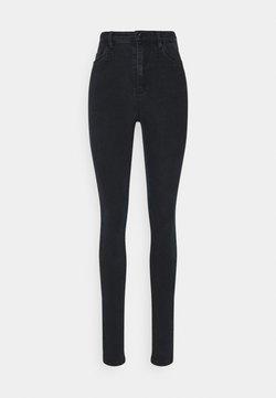 Vero Moda Tall - VMSOPHIA SKINNY RHINESTONE - Jeansy Skinny Fit - black
