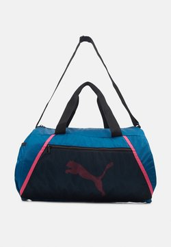 Puma - BARREL BAG - Sac de sport - digi blue/black/luminous pink