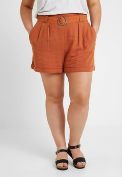 New Look Curves - BERMUDA BUCKLE - Shortsit - burnt orange