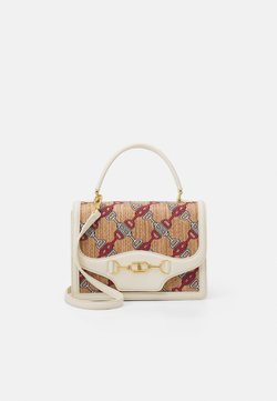 Elisabetta Franchi - CLAMP SHOULDER BAG - Handbag - burro