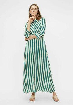 YAS - YASSAVANNA STRIPE LONG DRESS - Maxi-jurk - green