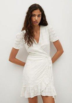 Mango - Korte jurk - blanc cassé