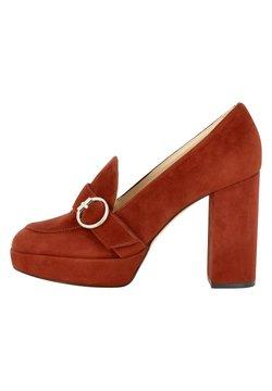 Evita - Zapatos altos - braunrot