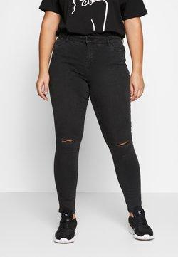 Vero Moda Curve - VMSEVEN DESTROY - Slim fit jeans - black