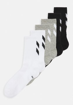 Hummel - CHEVRON 6 PACK UNISEX  - Sportsocken - white/black/grey melange