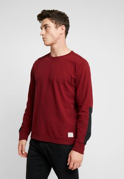 Levi's® - LS MIGHTY MADE TEE - Longsleeve - warm cabernet/black
