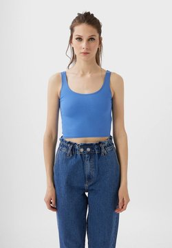 Stradivarius - CROPPED - Top - blue