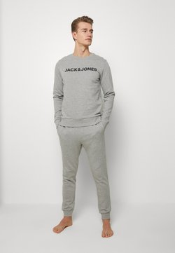 Jack & Jones - JACLOUNGE SET - Pyjama - light grey melange