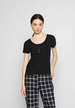 ONLY - ONLSIMPLE LIFE BUTTON - T-Shirt basic - black