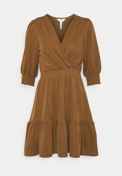 Object Petite - OBJDIANE DRESS - Jerseyklänning - sepia