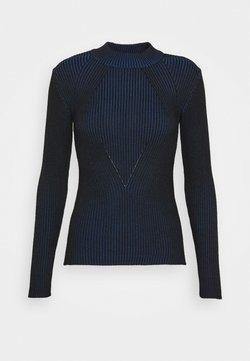 G-Star - PLATED LYNN MOCK - Pullover - imperial blue/dark black