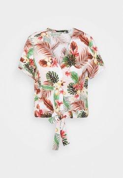 Vero Moda Tall - VMSIMPLY EASY TIE - Bluse - birch/selma