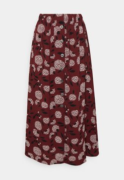 ONLY - ONLNOVA LUX BUTTON SKIRT - A-Linien-Rock - port royale/white