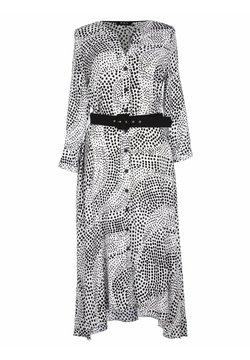 KMX Fashion - DŁUGA SUKIENKA W GROCHY - Sukienka letnia - biały