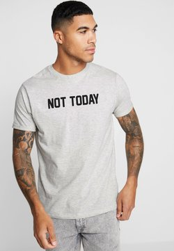 Brave Soul - TODAY - T-shirt print - ecru marl/black