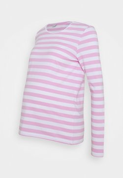 Pieces Maternity - PCMRIA NEW TEE - Longsleeve - bright white/pastel lavender