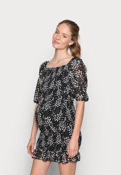 Missguided Maternity - SHIRRED FLORAL MIDI DRESS - Jerseykleid - black