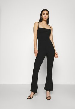 Even&Odd - Flared legs strappy jumpsuit - Combinaison - black