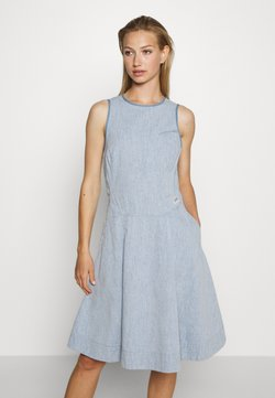G-Star - FIT AND FLARE DRESS S\LESS - Jeanskleid - rinsed