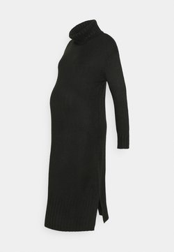 New Look Maternity - ROLL NECK DRESS - Neulemekko - black