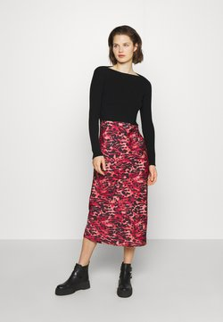 AllSaints - HERA AMBIENT DRESS - Pullover - black/red