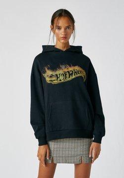 PULL&BEAR - Bluza z kapturem - black